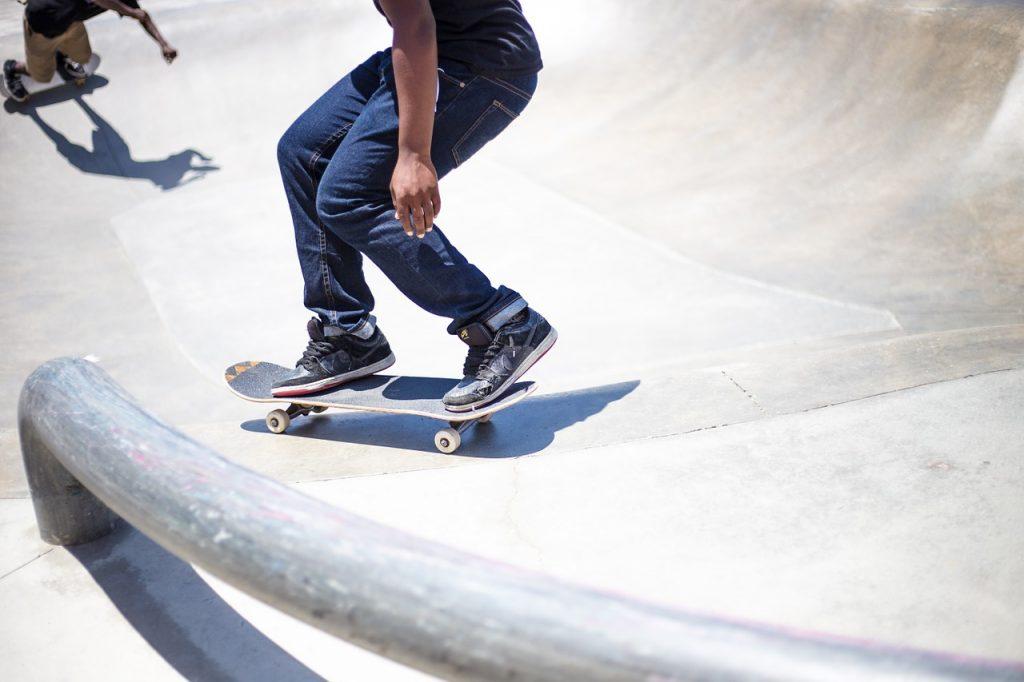skateboarding, park, sport